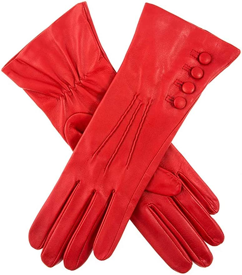 Vintage Style Gloves- Long, Wrist, Evening, Day, Leather, Lace Dents Rose Womens Silk Lined Leather Gloves £74.95 AT vintagedancer.com