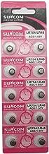 SUNCOM (10 pcs) AG5 Alkaline 1.5V Button Cell Battery Single Use LR754 LR48 393-1W D309 546 393A Watch Toys Remotes Cameras
