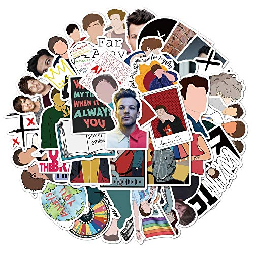 MNHG 50 Uds One Direction 1d Singer Louis Tomlinson Pegatina papelería portátil monopatín Botella de Agua Bicicleta Pegatina para Coche, 50 Uds Pegatinas