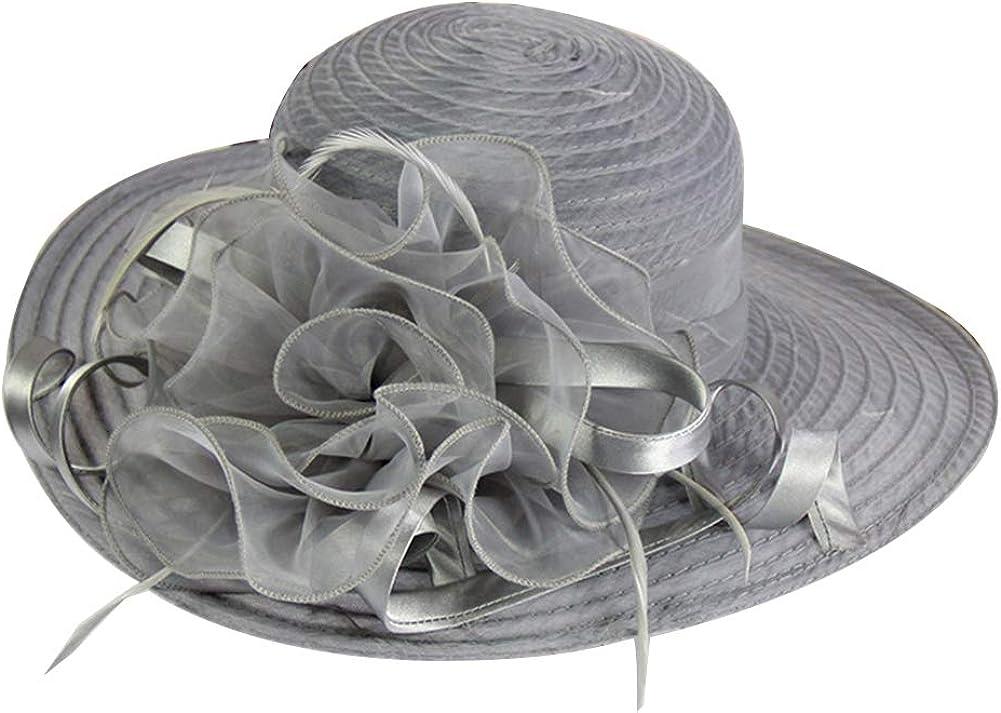 Women Kentucky Derby Church Dress Cloche Hat Fascinator Floral Wedding Hat Dress Hat