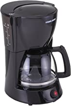 Black+Decker 800W 10 Cup Coffee Maker with 1.25L Glass Carafe and Keep Warm Feature for Drip Coffee and Espresso, DCM600, Black, 2 Year Brand Warranty