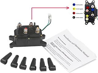 KIPA Winch Solenoid Relay 12V 250A for ATV UTV SUV Jeep Trailer Hydraulic Pump Lift Jack Replace OEM Part # 63070 62135 74900 2875714 70715 with Waterproof Caps and Instruction Manual
