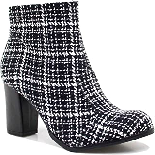 Bota Feminina Cravo e Canela Ankle Boot Salto Ziper