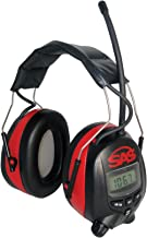 SAS Safety 6108 Digital Earmuff Hearing Protection with AM/Fm Radio & MP-3 Ready