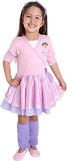 Fantasia Dora Bailarina Infantil 35611-M Sulamericana Fantasias Rosa/Lilás M 6 Anos