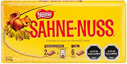 Sahne Nuss Nestle Chile Chocolate With Almonds 250 Grms Classic Chilean Food