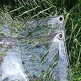 Lona alquitranada jardín de la Granja, Transparente para Uso en Exteriores, Cubre la Madera con plástico con Orificio de Metal - Ancho de 1/1.8/2 / 2.4M - 0.3mm (Size : 2.4X3m)