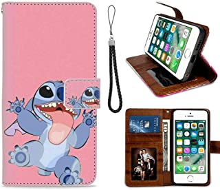 iPhone 7 Phone Wallet Case (2016), iPhone 8 Case (2017) [4.7 Version] Disney Wallpaper Lilo Y Stitch Tumblr Cartoon Good