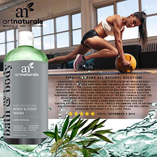 ArtNaturals Tea Tree Body and Foot Wash - (12 Fl Oz / 355ml) - Peppermint and Eucalyptus Oil - Natural...
