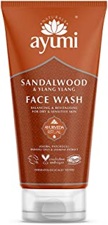 Ayumi Sandalwood & Ylang Ylang Face Wash. Vegan, Cruelty-Free, Dermatologically-Tested, 1 x 150ml