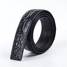 Men Belt Top Layer Leather Belt Body Cowhide Smooth Buckle Dermis Strip Casual (Size : XXL)