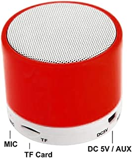 Inwa Stereo Bluetooth Speaker Support U Disk TF Card Universal Mobile Phone Music Mini Wireless Outdoor Portable Woofer High Quality - Red