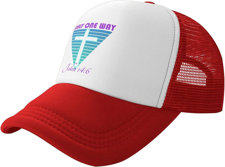Womens Baseball Hat Dad Hats Only One Way Baseball Cap Running Hat Caps for Men Mesh Black Baseball Cap