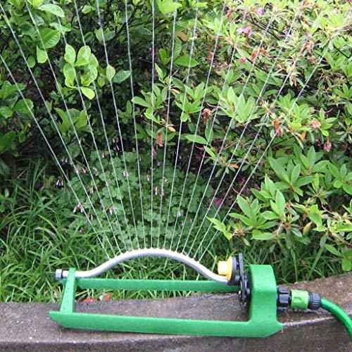 EWRW - Aspersor de jardín, aspersor oscilante de 360 grados, sistema de riego de césped, 18 agujeros de aluminio, rociador de agua de aluminio, sistema de riego de jardinería