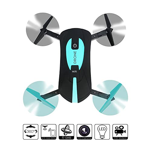 le-idea WIFI FPV Quadcopter Toy 2.4G Foldable Arm Mini Selfie Drone with 2 MP Camera by Phone Control Best Gift ¡