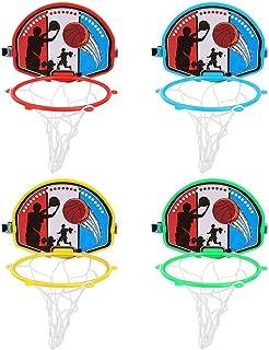 Mini baloncesto elevado ajustable tipo soporte del baloncesto juego de Baloncesto Deportes Juguete Outdoor Fun Sports juguete de la novedad con una pelota de baloncesto y un inflador Indoor