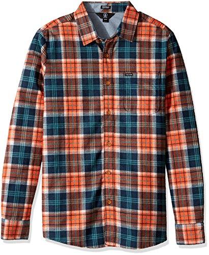 Volcom Heren hemd Hayden Flannel Check Shirt flanel hemd houthakkershemd heren geruit oranje