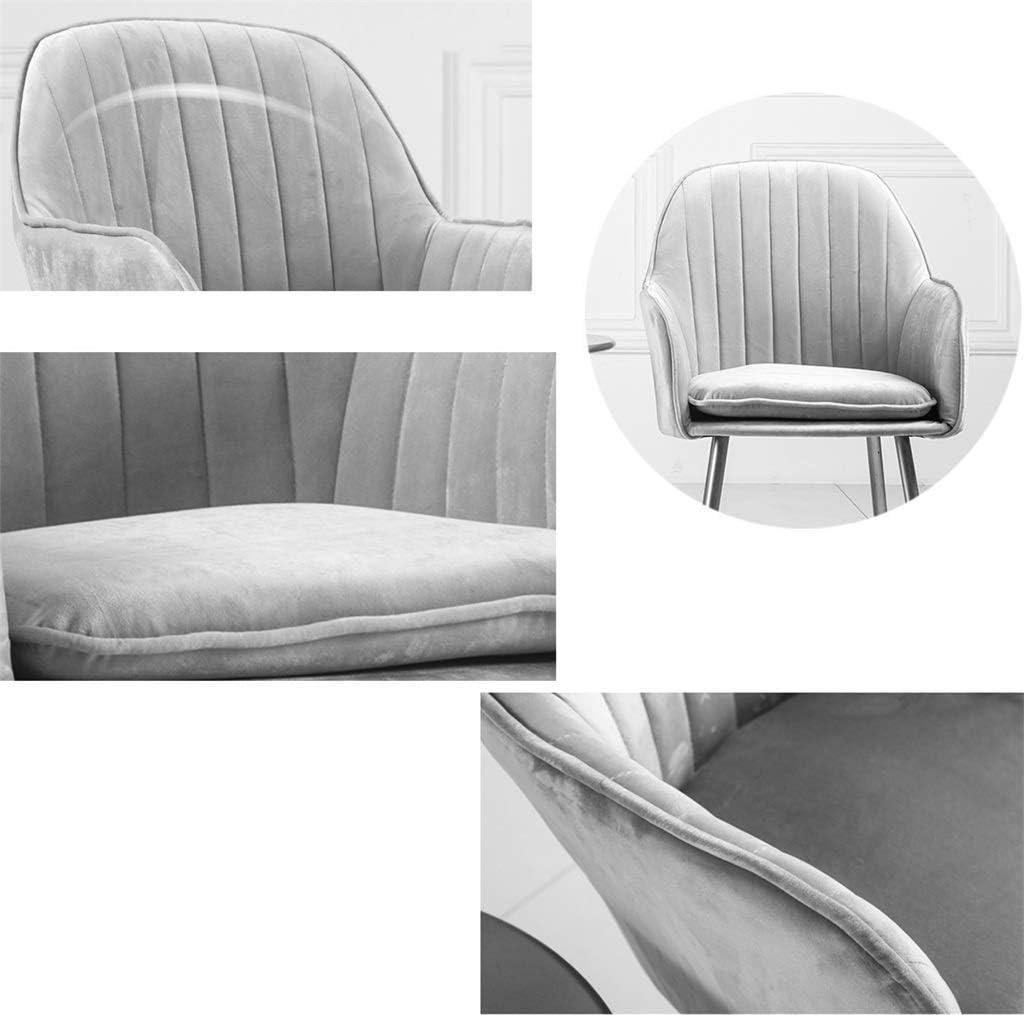 YJT.cy Chaise de Salle à Manger Confortable: Pieds métalliques Coussin en Velours Chaises de Salle à Manger Amovibles et lavables Dressing Café Chambre 45 × 44 × 85 cm Green