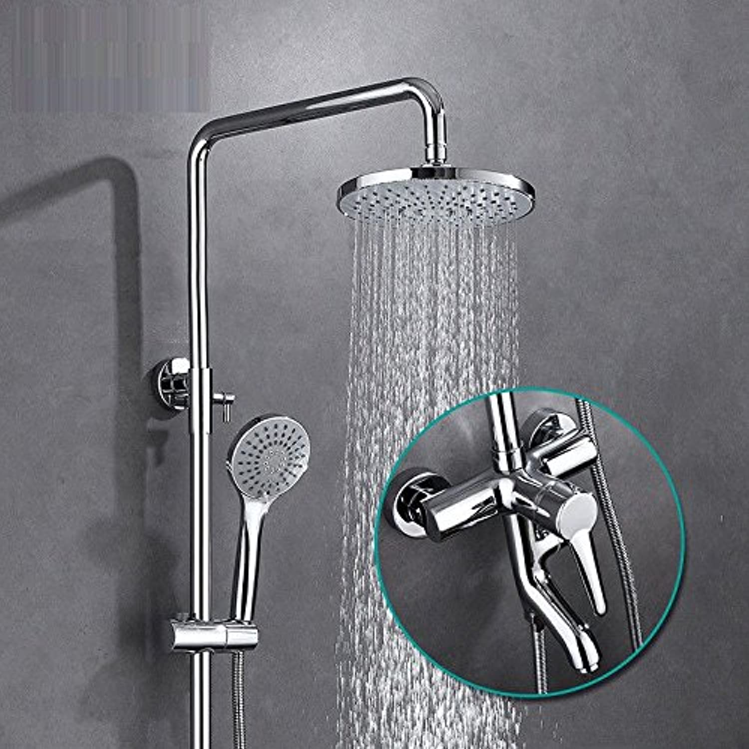 Lalaky Taps Faucet Kitchen Mixer Sink Waterfall Bathroom Mixer Basin Mixer Tap for Kitchen Bathroom and Washroom Retro Copper Mixing Valve Stainless Steel Booster Nozzle Can Be Raised and Lowered