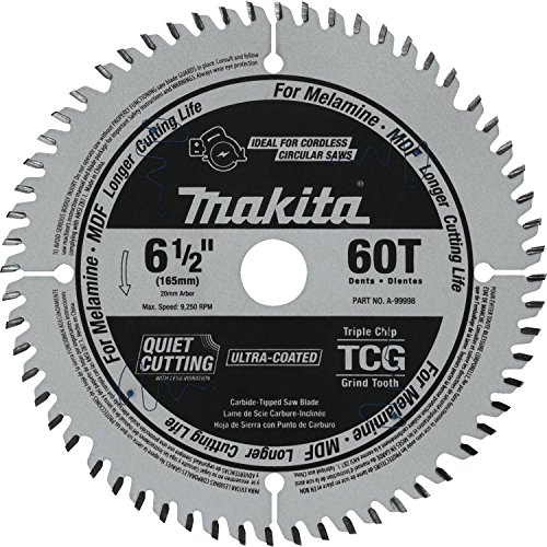 Makita A-99998 6-1/2' 60T (Tcg) Carbide-Tipped Cordless Plunge Saw Blade
