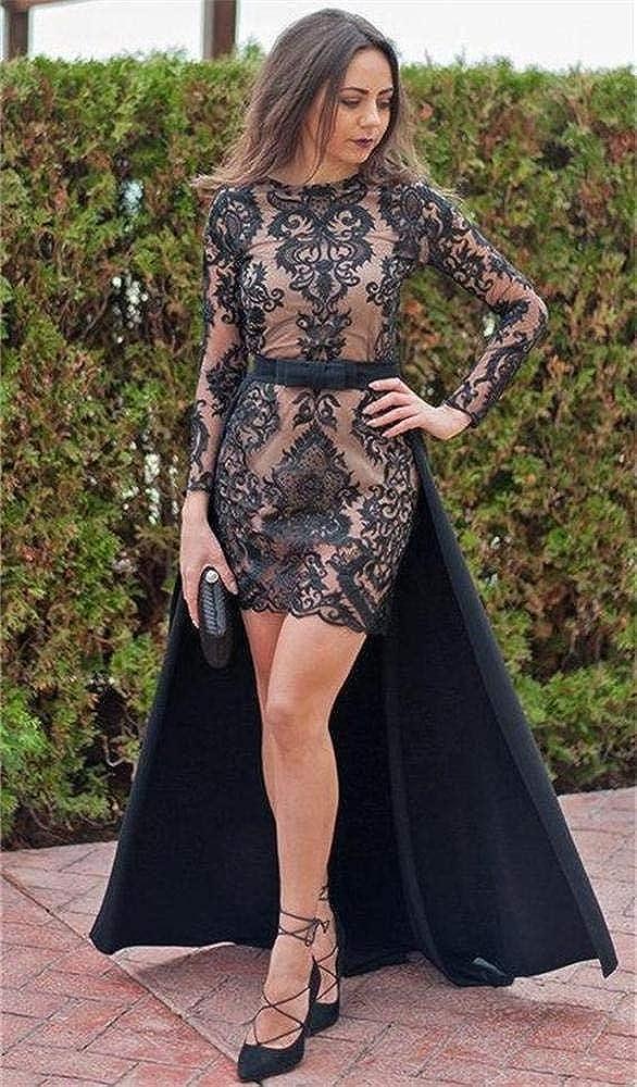 Simlehouse Black Satin Detachable Train Prom Party Dress Overskirts Fashion Removal Skirt 2019