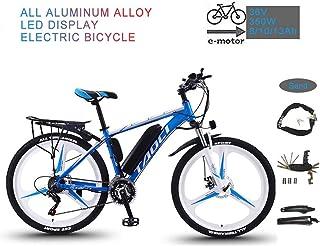 YRXWAN Bicicleta eléctrica de montaña Plegable de 26 '' para Adultos 36V 350W 13AH Batería extraíble de Iones de Litio Bic...