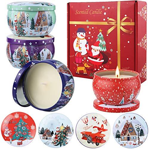 AMAYGA Duftkerze Aroma Kerzen, Duftkerzen Geschenk Set,Aromatherapie Natürliches Sojawachs Aroma Kerze,für Weihnachten,Geburtstag,Muttertag,Valentinstag,Hochzeiten