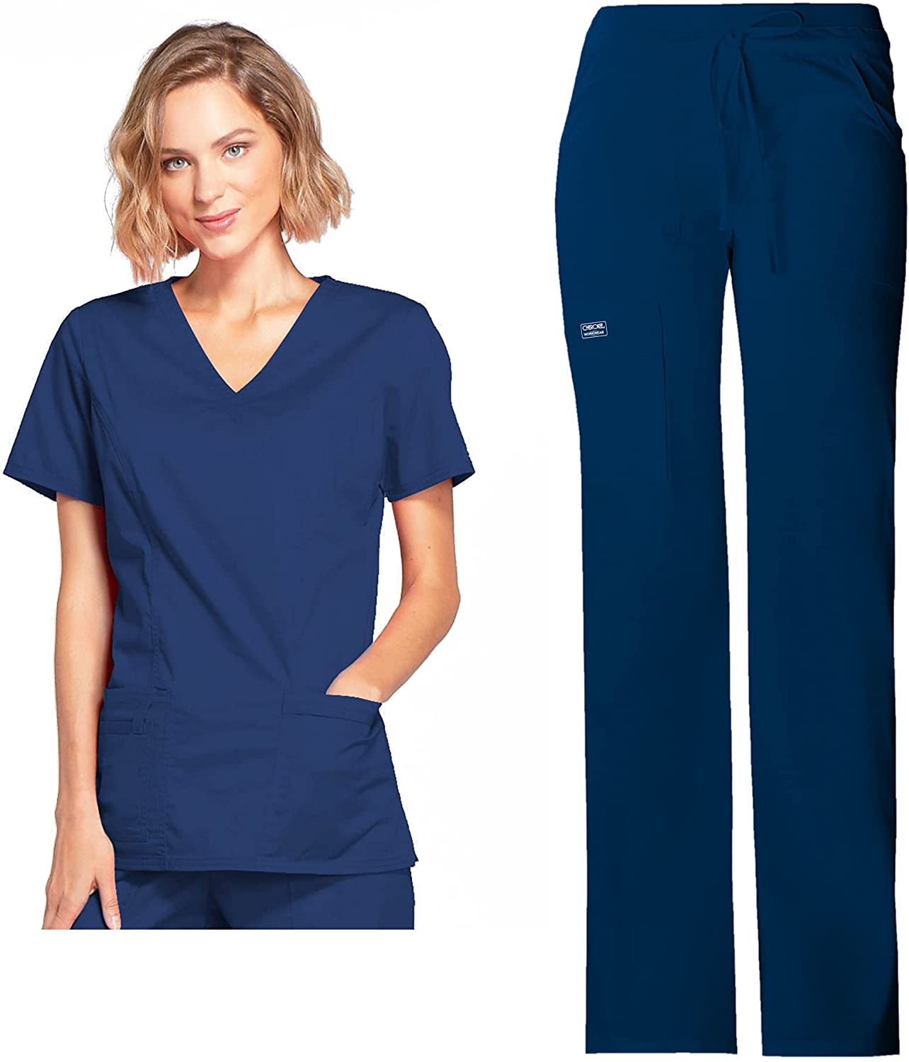 Workwear Core Stretch Women Chicago Mall Scrubs Set Mock Draw 70% OFF Outlet Top Wrap 4728