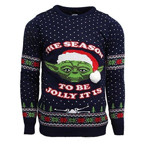 Star Wars Official Master Yoda Christmas Jumper/Ugly Sweater - UK M/US S