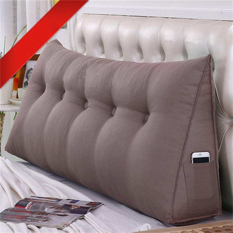 BJYG Dossier de Chambre à Coucher Double Coussin de Chevet Triangle Sac Souple Oreiller Taille Garde Amovible (Couleur  A2, Taille  135  50  20cm)
