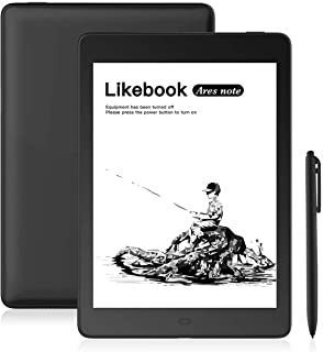"Likebook Ares-Note E-Reader, 7.8"" Eink Carta Screen, Dual Touch, Hand Writing, Built-in Cold/Warm Light, Built-in Audible, Android 6.0, Octa Core Processor, 2GB+32GB"