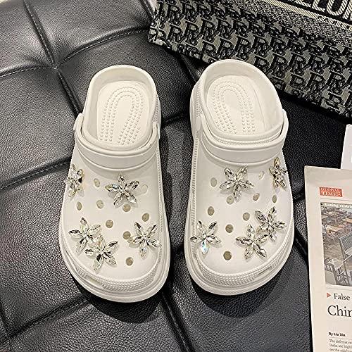 Kirin-1 Sandalias Cangrejeras Mujer para La Playa,Zapatos Y Complementos,Zapatillas Accesorios Taladro De Agua Sea Star Star Cool Drag Playas-38_Blanco