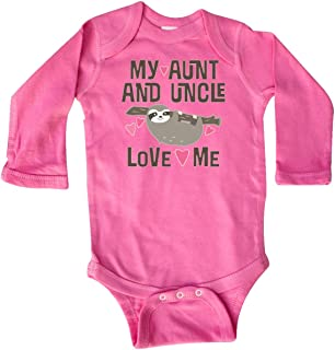 inktastic My Aunt and Uncle Love Me Sloth Long Sleeve Creeper