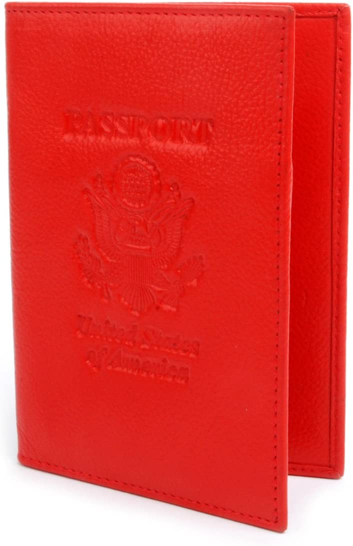 BG Genuine Leather Indianapolis Mall and Import RFID Blocking Holder for Cover - Passport