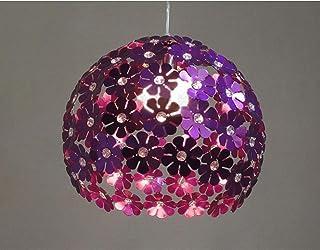 Créatif LED Suspension Luminaire Sphérique - Fleur Plafonnier Lustre Décoratif(Violet)