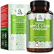 Apple Cider Vinegar 1000mg - 180 Vegan Capsules - 90 Day Supply - Premium Quality Supplement - Made in The UK by Nutravita