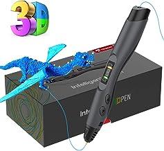 Pluma de Impresión 3D, Tecboss Pluma 3D con Pantalla LCD, 8 Velocidades Ajustables Lápiz 3D Compatibles PLA e ABS Filamentos, Un Regalo Especial de Cumpleaños y Navidad Para Niños y Adultos