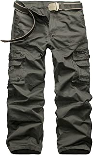 N/ A Mens Work Trousers Cargo Trousers Men's Combat Trousers Military Outdoor Pants for Camping Hiking Walking