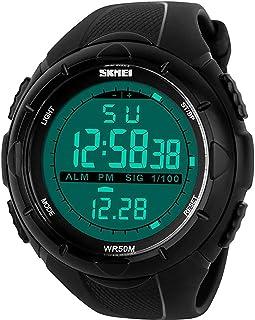 ساعة سكيمي 1025 اسود مضادة للماء للرجال رقمية