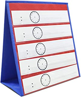 Eamay Desktop Tabletop Pocket Chart, Classroom Double-Side and self-Standing Pocket Chart for Kindergarten, Home Use or Classroom (25 Cards Not Included)