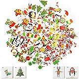 Pegatinas Navideñas Etiquetas Adhesivas Navidad Stickers 200 Regalo de Navidad Etiqueta Pegatinas Etiquetas Autoadhesivo Papá Noel Muñeco de nieve Árbol de Navidad Festivales Festivos Cumpleaños