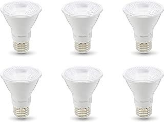 AmazonBasics 50W Equivalent, Warm White, Dimmable, 10,000 Hour Lifetime, PAR20 LED Light Bulb | 6-Pack