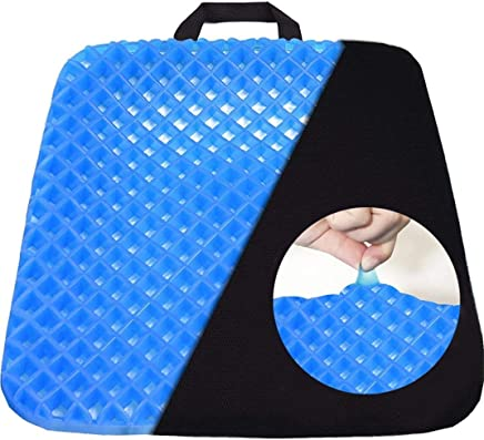 ADA Cushion Seat Flex Pillow, Gel Orthopedic Seat Cushion Pad for Car, Office Chair, Wheelchair, or Home | Grid Mesh Gel Memory Foam Cushion for Bedding Ergonomics Breathable Honeycomb Designed Soft Gel Pad, Office Chair, Car Seat Cushion
