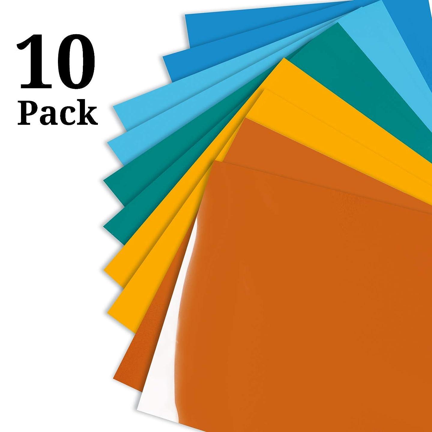 Fresh Summer Suit Heat Transfer Vinyl Colourful Iron on Vinyl for T-Shirts 12x10