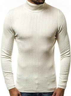 a maniche lunghe sottile con scollo a V Nobrand maglione invernale da uomo spessa
