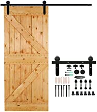 CCJH 4FT Sliding Barn Door Hardware Kit, Heavy Duty, Smoothly and Quietly, Easy to Install, Fit 24