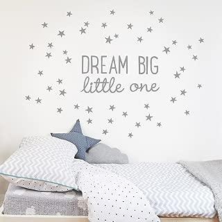 Koko Kids Dream Big Little One Fabric Wall Decal (Blue)