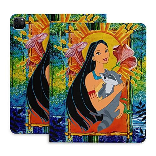 Pocahontas and Meeko Schutzhülle für Tablet Pro 2020–27,9 cm (11 Zoll), mit automatischer Sleep/Wake-Funktion, Stiftschlitz, ultradünn, leicht, Standfunktion, Leder