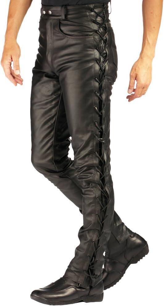Roleff Racewear Lederhose Mit Seitlicher Schnürung Schwarz 46d Auto