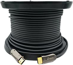 DTECH Ultra Slim 200 Feet Fiber Optic HDMI 2.0 Cable 4K at 60Hz and 18Gbps Pro Series for in-Wall Installation